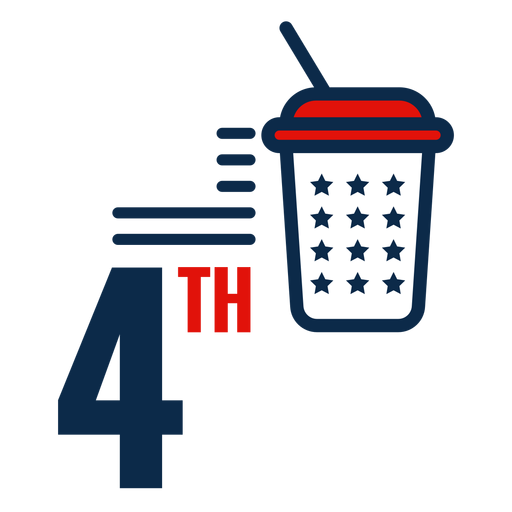 4th july soft drink icon Transparent PNG