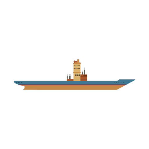 Icono de nave de portaaviones Transparent PNG
