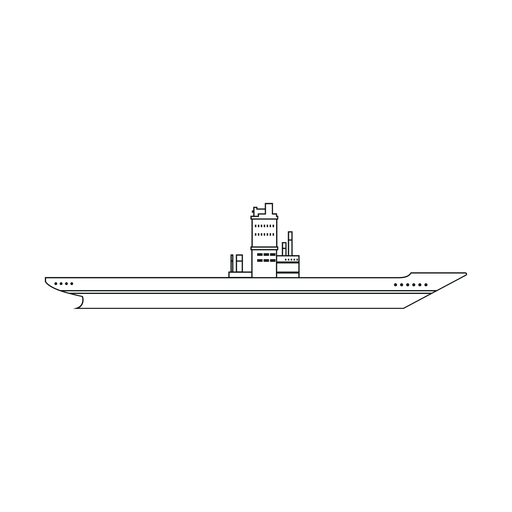 Aircraft carrier ship line Transparent PNG