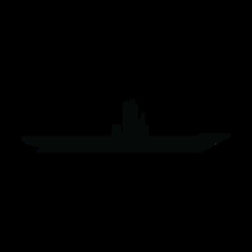 Flugzeugträger Schiff Silhouette Transparent PNG