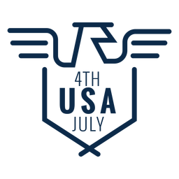 American Eagle USA Emblem flach