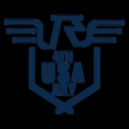 American eagle usa emblem flat