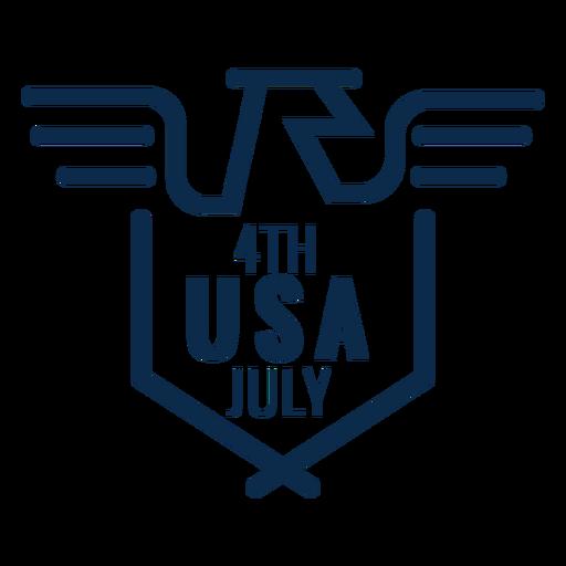 Águia americana EUA emblema plana Transparent PNG