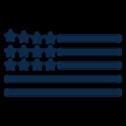 American flag elements flat