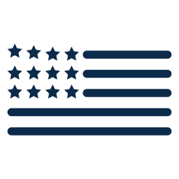 Elementos de la bandera americana plana