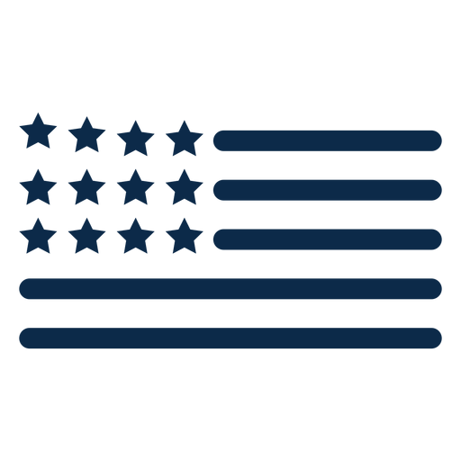 American flag elements flat Transparent PNG