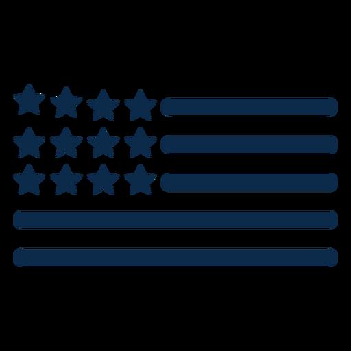 Elementos da bandeira americana Transparent PNG