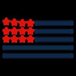 Ícone de elementos de bandeira americana