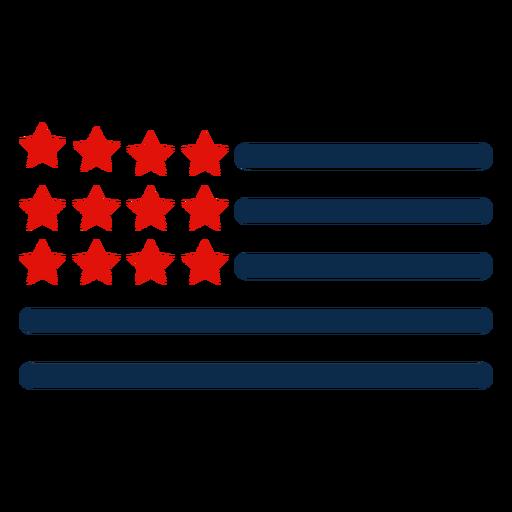 Ícone de elementos de bandeira americana Transparent PNG