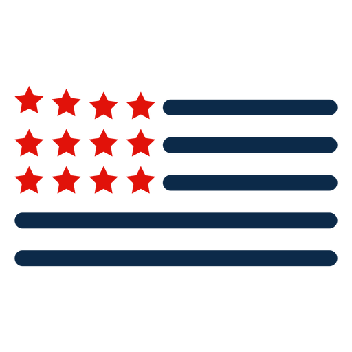 American flag elements icon Transparent PNG