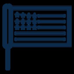 Bandera de palo americana plana