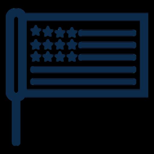 Bandeira de pau americano plana Transparent PNG