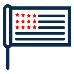 American stick flag icon