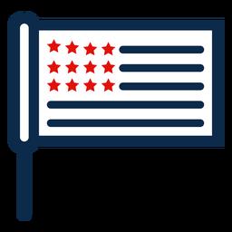 Icono de bandera de palo americano