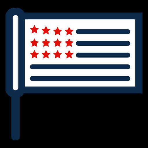 Ícone de bandeira de pau americano Transparent PNG