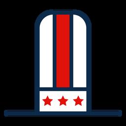 Icono de sombrero de copa americano