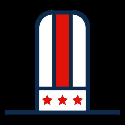 Icono de sombrero de copa americano Transparent PNG