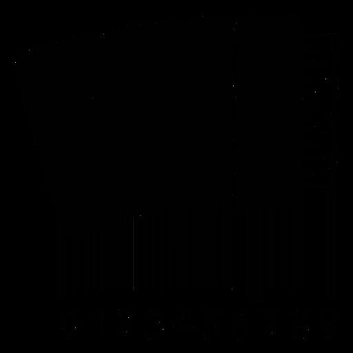 Código de barras con acordeón Transparent PNG