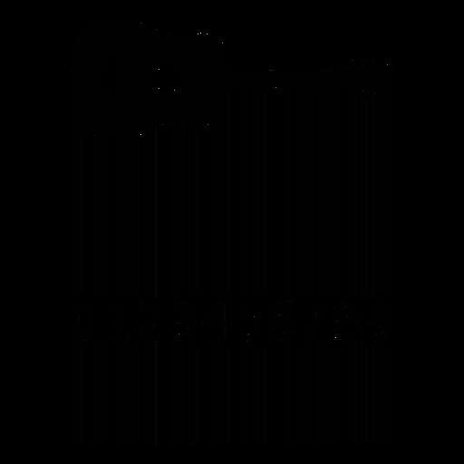 Código de barras con guitarra acústica. Transparent PNG