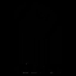 Código de barras com bola de futebol americano