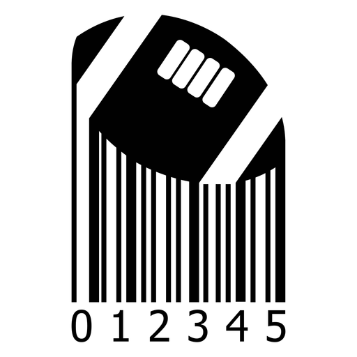 Código de barras com bola de futebol americano Transparent PNG