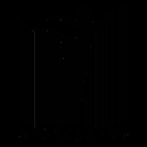 Barcode with ballet dancer Transparent PNG