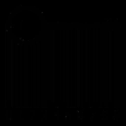 Código de barras con banjo Transparent PNG