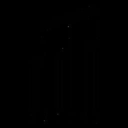 Código de barras com tom musical com vigas