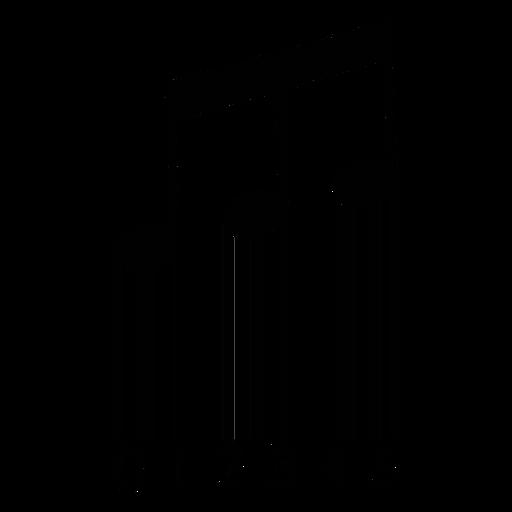 Código de barras com tom musical com vigas Transparent PNG
