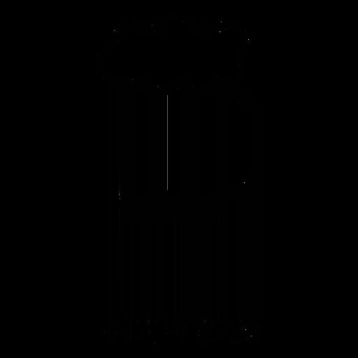 Código de barras com caneca de cerveja Transparent PNG