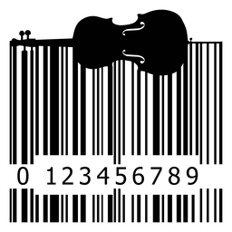 Código de barras con violonchelo
