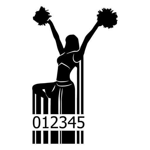 Código de barras con animadora Transparent PNG