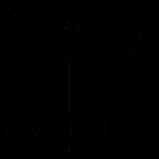 Código de barras con clave Transparent PNG