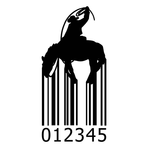 Barcode with cowboy Transparent PNG