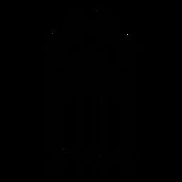 Código de barras com impressão da pata do cão