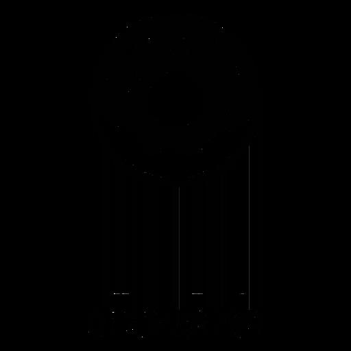 Código de barras con rosquilla Transparent PNG