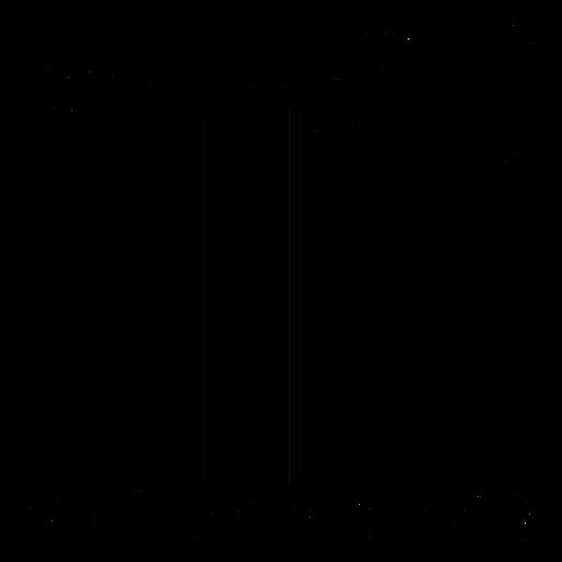 Código de barras con guitarra eléctrica. Transparent PNG