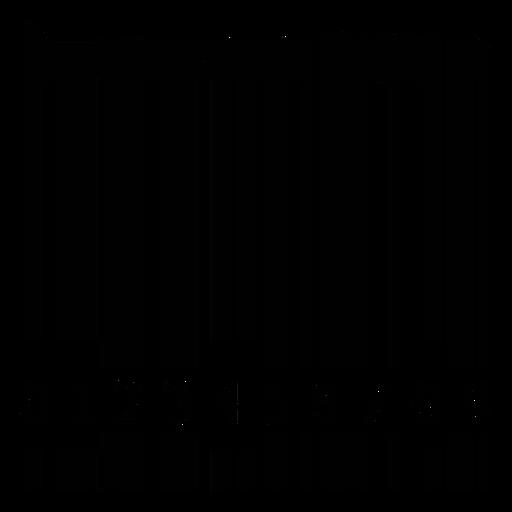 Código de barras con flauta Transparent PNG