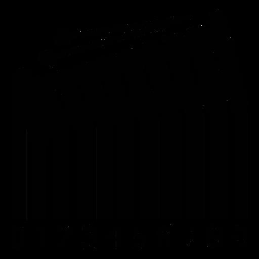 Código de barras con glockenspiel Transparent PNG