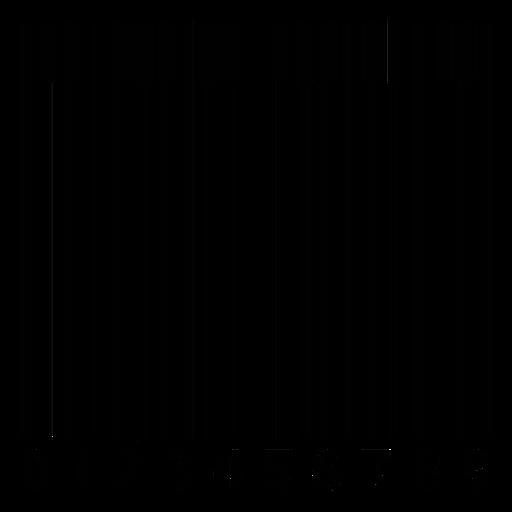 Código de barras con teclas de piano. Transparent PNG