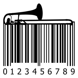 Código de barras con trombón