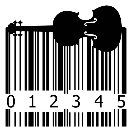Código de Barras com violino Transparent PNG