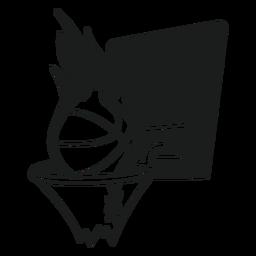Camiseta de baloncesto gráfico.