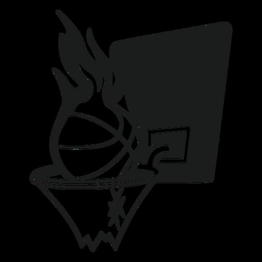 Gráfico de camiseta de baloncesto