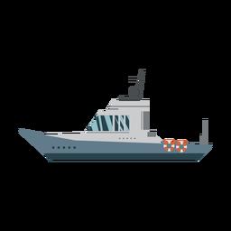 Icono de barco de cabina