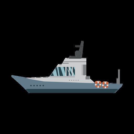 Icono de barco de cabina Transparent PNG