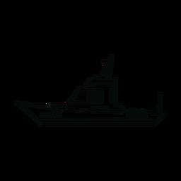 Línea de barco de cabina