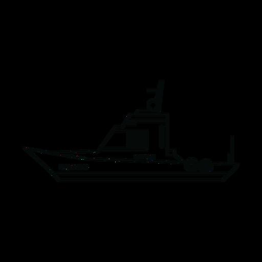 Cabin boat line Transparent PNG