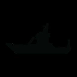 Cabin boat silhouette