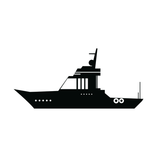 Cabin boat silhouette Transparent PNG